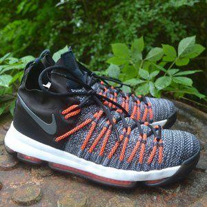 Nike KD 9 Elite Men Shoes Grey Hyper Orange 12
